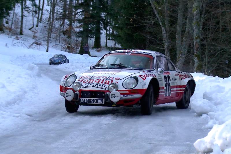 Alpine au Rallye Monte-Carlo Historique