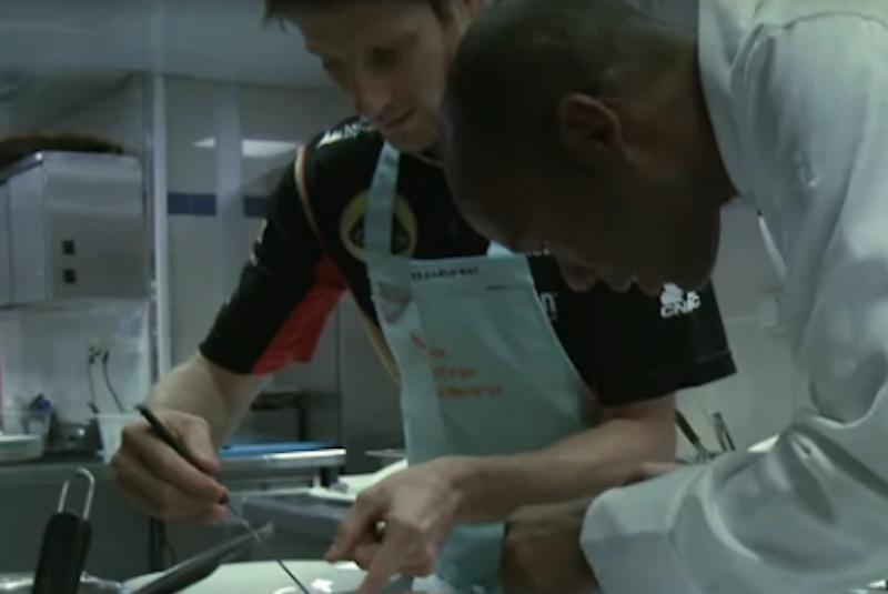"Romain Grosjean's ""Cuisine"" Course"