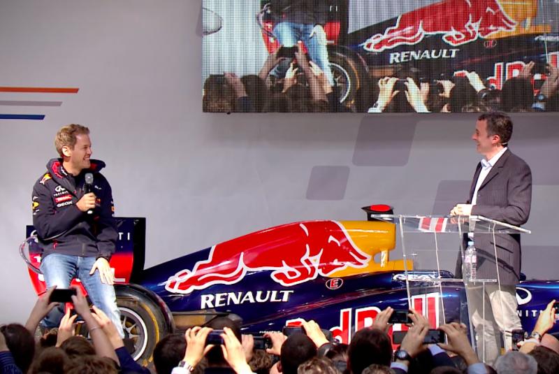 Visite Sebastian Vettel au Technocentre Renault